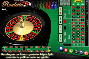 Gioco roulettes gratis senza scarica triplo bonus