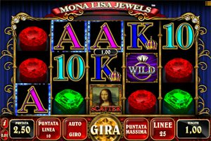 Mona lisa jewels Slot gratis 5 Rulli