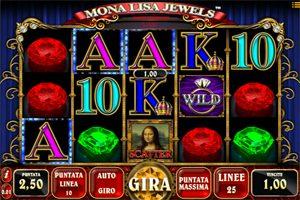 Mona Lisa Jewels slot gratis 5 rulli