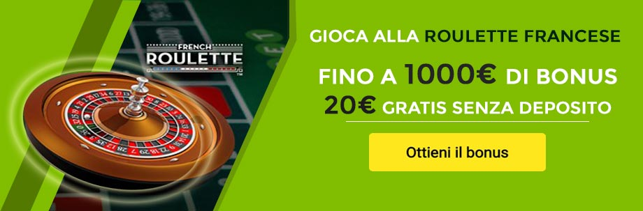 Bonus roulette francese gratis