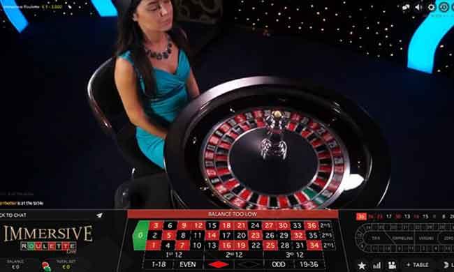 Immersive Roulette dal vivo